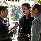 Christian Bale, Thomas Lennon, and Joe Lo Truglio in Knight of Cups (2015)