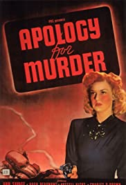 Apology for Murder Poster