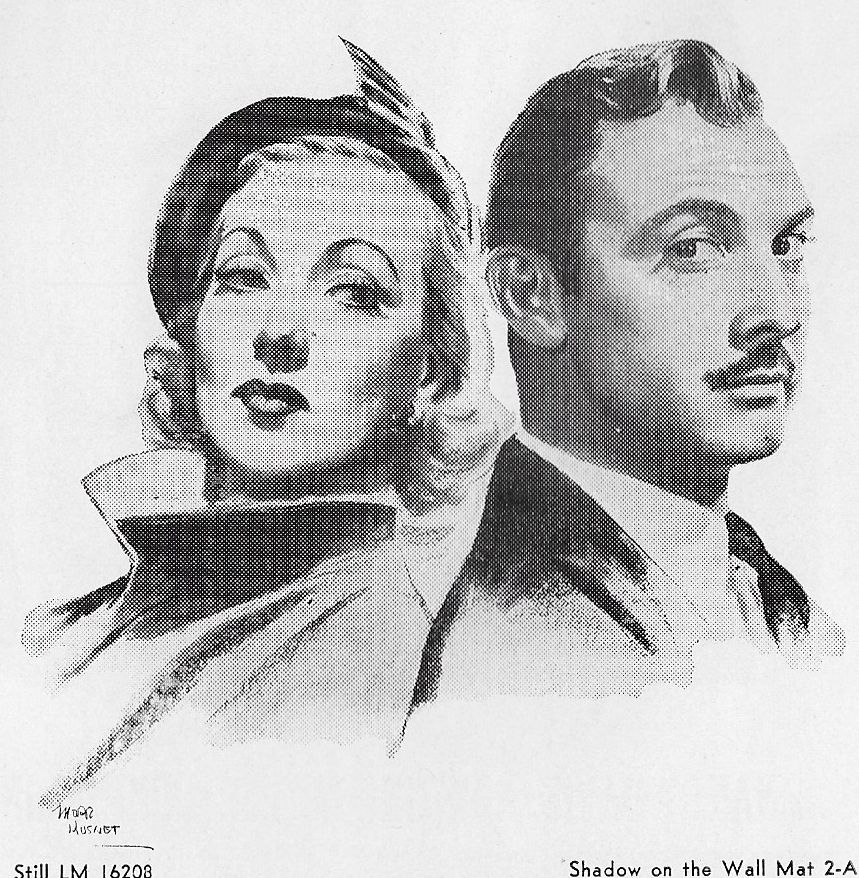 Zachary Scott and Ann Sothern in Shadow on the Wall (1950)