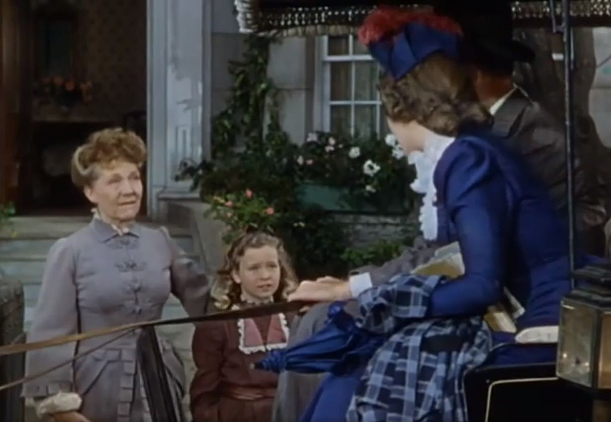 Barbara Britton, Nana Bryant, Bill Edwards, and Dorothy Anne Seese in The Virginian (1946)