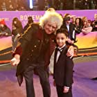 Brian May and Adam Rauf at an event for Bohemian Rhapsody (2018)