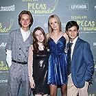Loreto Peralta, Andrea Sutton, Luis de La Rosa, and Hanssel Casillas at an event for Todas las pecas del mundo (2019)