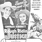 Wheeler Oakman, Charles Starrett, and Betty Jane Graham in Rough Ridin' Justice (1945)