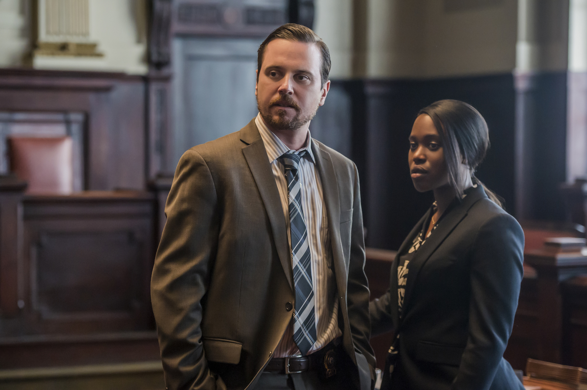 Michael Mosley and Clare-Hope Ashitey in Seven Seconds (2018)