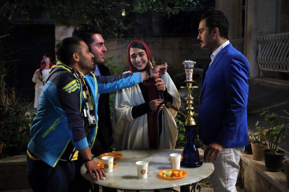 Milad Keymaram and Negar Jokar in Gheyre Mojaz (2017)
