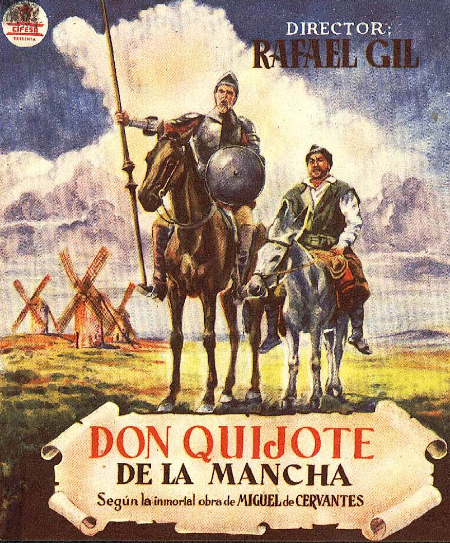 Don Quijote Rafael Gil vintage movie poster print