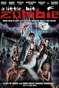Yan-Kay Crystal Lowe, Stephen McHattie, Shawn Roberts, Kristopher Turner, Kristen Hager, and Emilie Ullerup in A Little Bit Zombie (2012)
