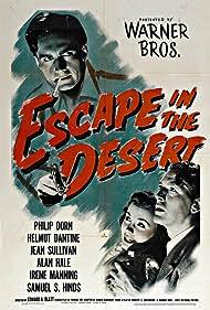 Helmut Dantine, Philip Dorn, and Jean Sullivan in Escape in the Desert (1945)