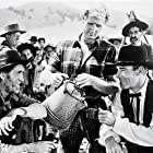 Randolph Scott, Lloyd Bridges, Robert Milasch, and Eddy Waller in Abilene Town (1946)