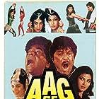Jeetendra, Anil Kapoor, Kimi Katkar, and Meenakshi Sheshadri in Aag Se Khelenge (1989)