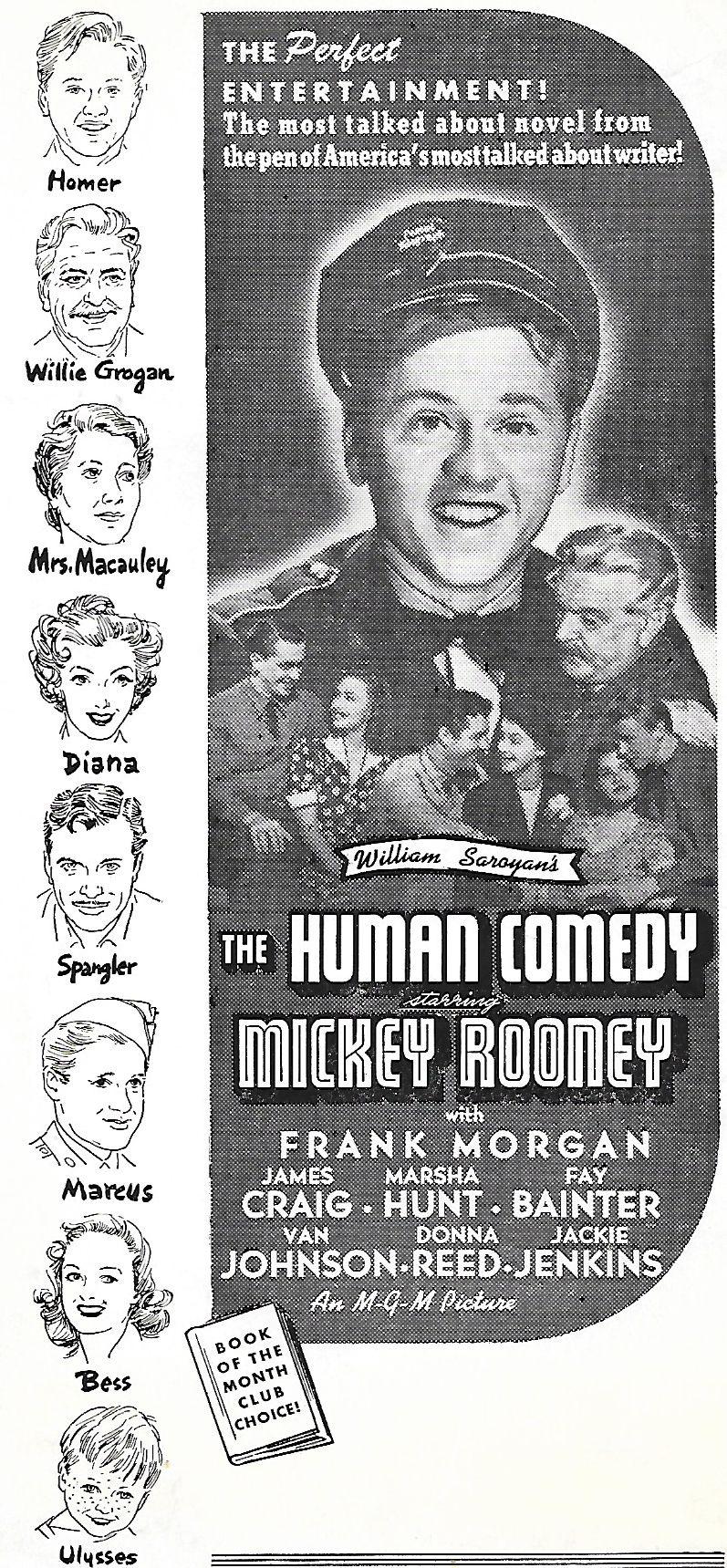 Donna Reed, Mickey Rooney, Van Johnson, Fay Bainter, James Craig, Marsha Hunt, Jackie 'Butch' Jenkins, and Frank Morgan in The Human Comedy (1943)