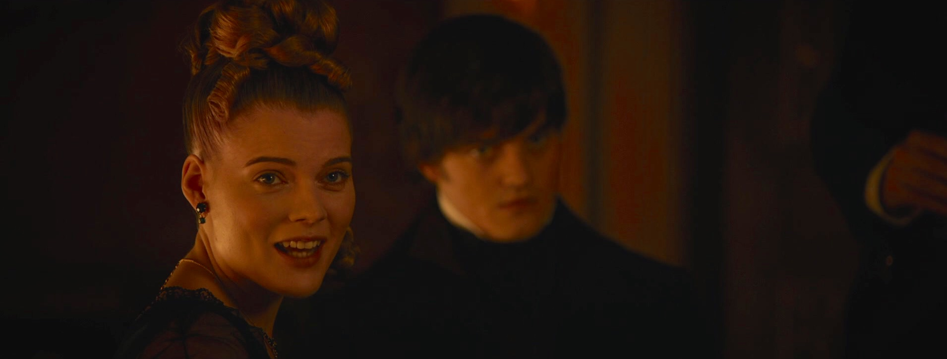 Sam Riley and Emma Greenwell in Pride and Prejudice and Zombies (2016)