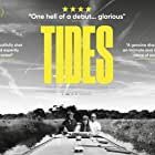 Simon Meacock, Jon Foster, Paul O'Callaghan, Robyn Isaac, Jamie Zubairi, and Tupaq Felber in Tides (2017)