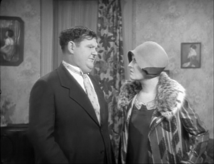 Oliver Hardy and Vivien Oakland in That's My Wife (1929)