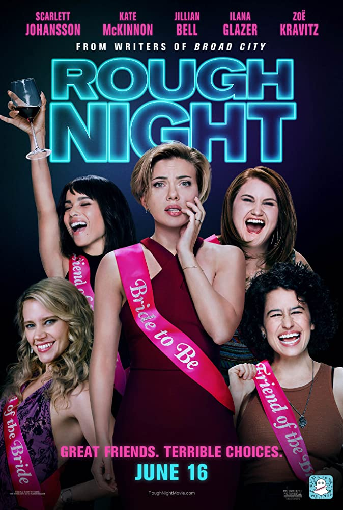 Scarlett Johansson, Kate McKinnon, Zoë Kravitz, Jillian Bell, and Ilana Glazer in Rough Night (2017)