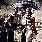 Kirk Douglas, Burt Lancaster, Laurence Olivier, and Janette Scott at an event for The Devil's Disciple (1959)