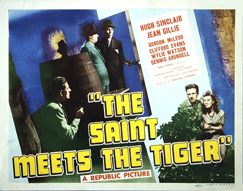 Jean Gillie and Hugh Sinclair in The Saint Meets the Tiger (1941)