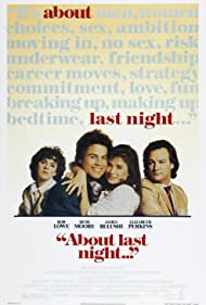 Demi Moore, Rob Lowe, Jim Belushi, and Elizabeth Perkins in About Last Night... (1986)