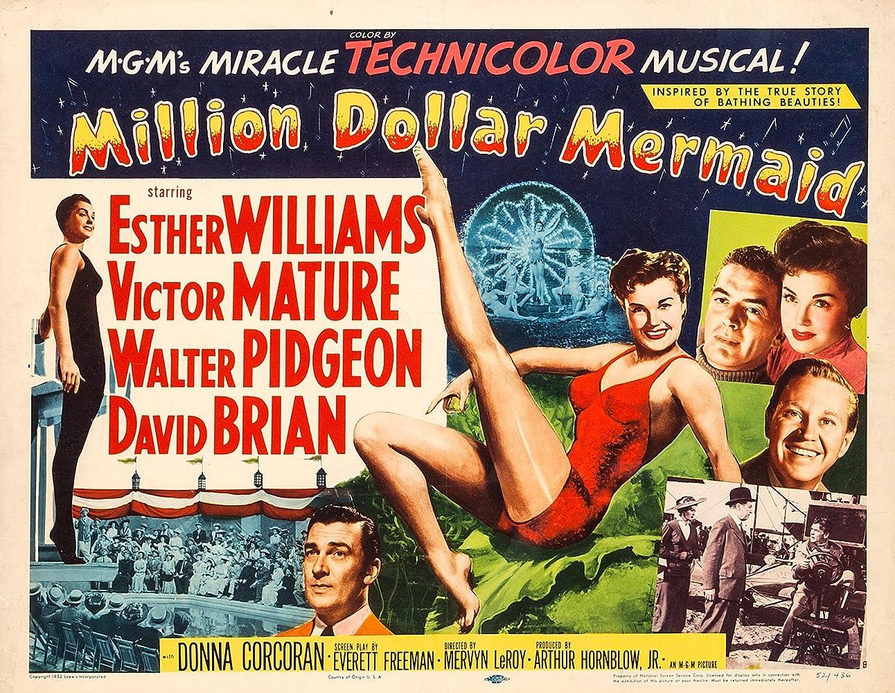 Victor Mature, David Brian, Walter Pidgeon, and Esther Williams in Million Dollar Mermaid (1952)