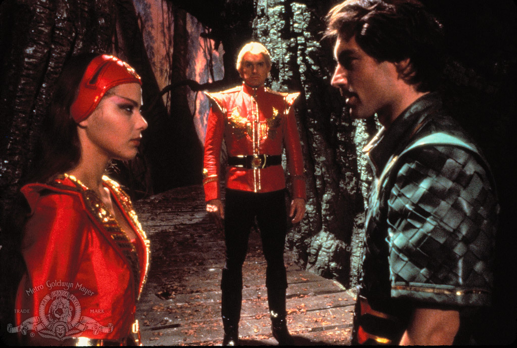 Timothy Dalton, Ornella Muti, and Sam J. Jones in Flash Gordon (1980)
