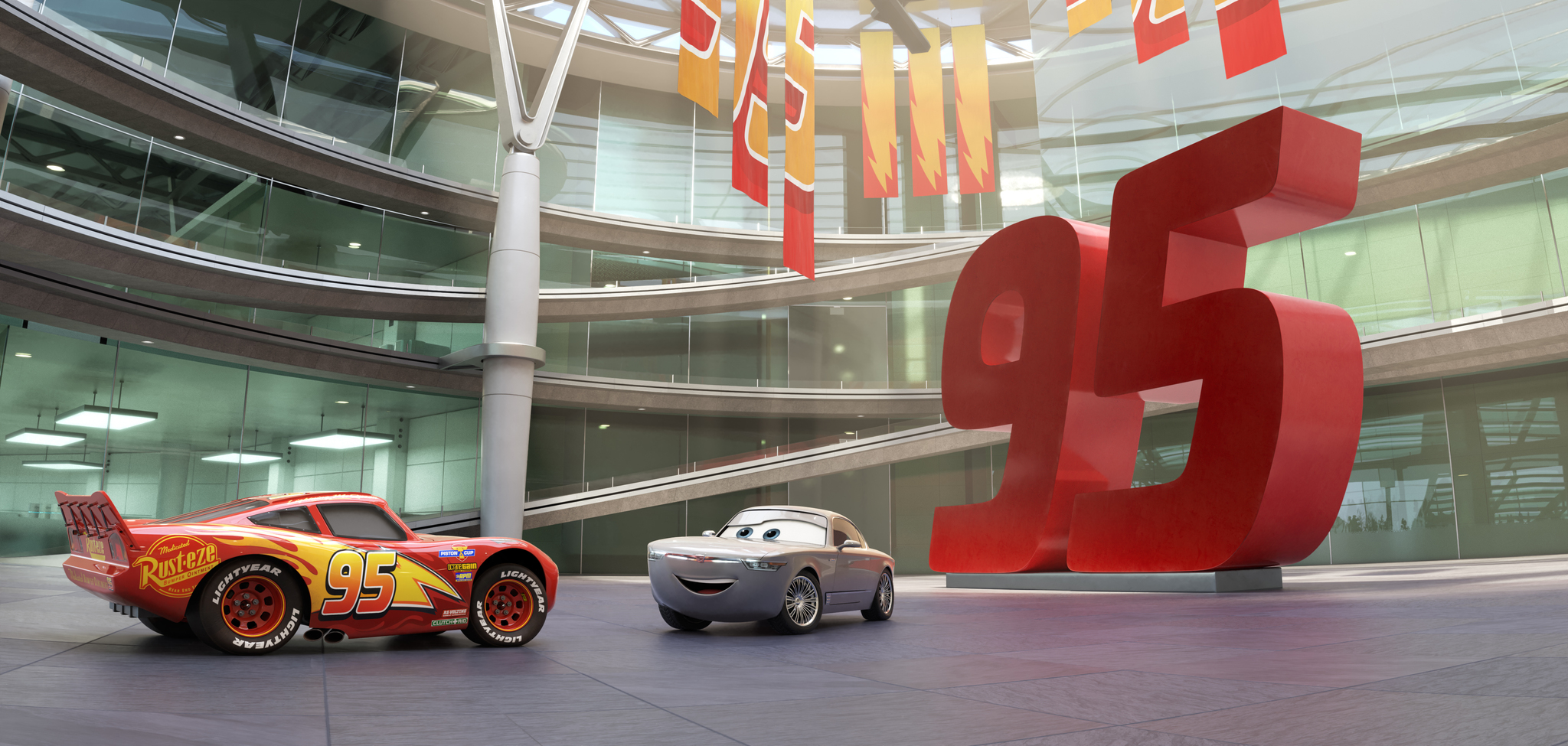 Owen Wilson and Nathan Fillion in Cars 3 (2017)