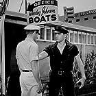"Elvis Presley and Jeremy Slate in ""Girls! Girls! Girls!"" Paramount, 1962."