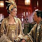 Gong Li and Chow Yun-Fat in Man cheng jin dai huang jin jia (2006)