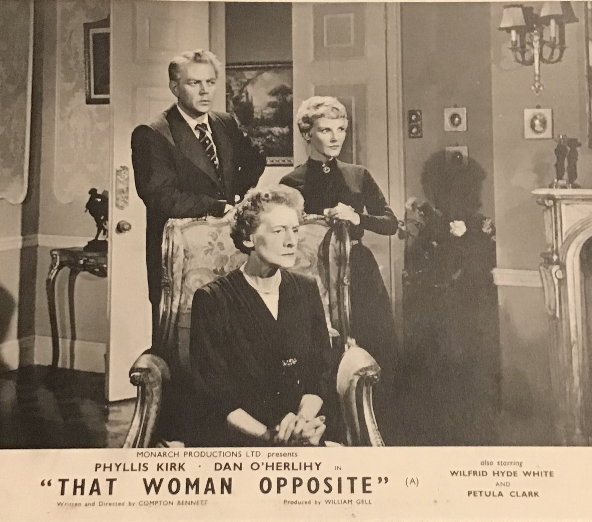 Petula Clark, Dan O'Herlihy, and Margaret Withers in That Woman Opposite (1957)