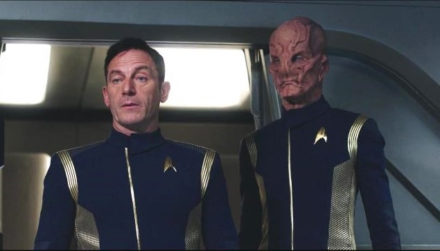 Jason Isaacs and Doug Jones in Star Trek: Discovery (2017)
