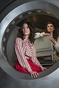 Abigail Spencer and Claudia Doumit in Timeless (2016)