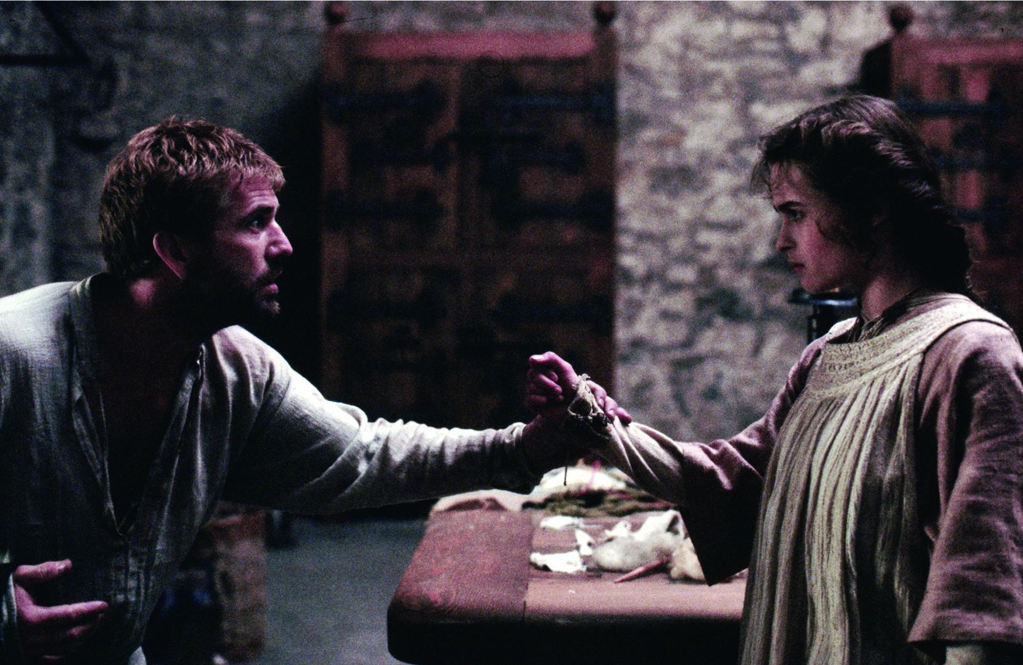 Mel Gibson and Helena Bonham Carter in Hamlet (1990)