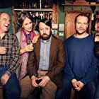 Penny Downie, David Mitchell, Robert Webb, and Louise Brealey in Back (2017)