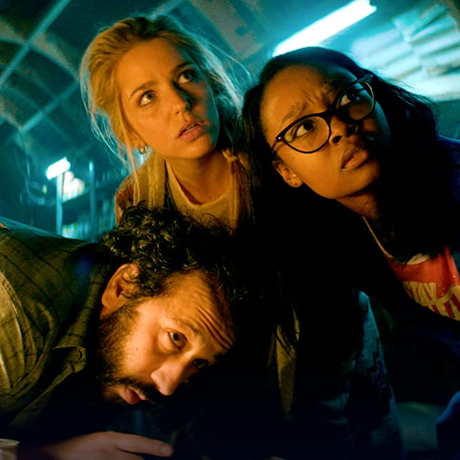 Jessica Rothe, Desmin Borges, and Ashleigh LaThrop in Utopia (2020)