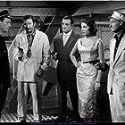 Robert Berri, Lise Bourdin, Jacques Castelot, Eddie Constantine, and Lino Ventura in Ces dames préfèrent le mambo (1957)