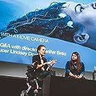 Jennifer Brea, Lindsey Dryden, and Anna Bogutskaya at an event for Unrest (2017)