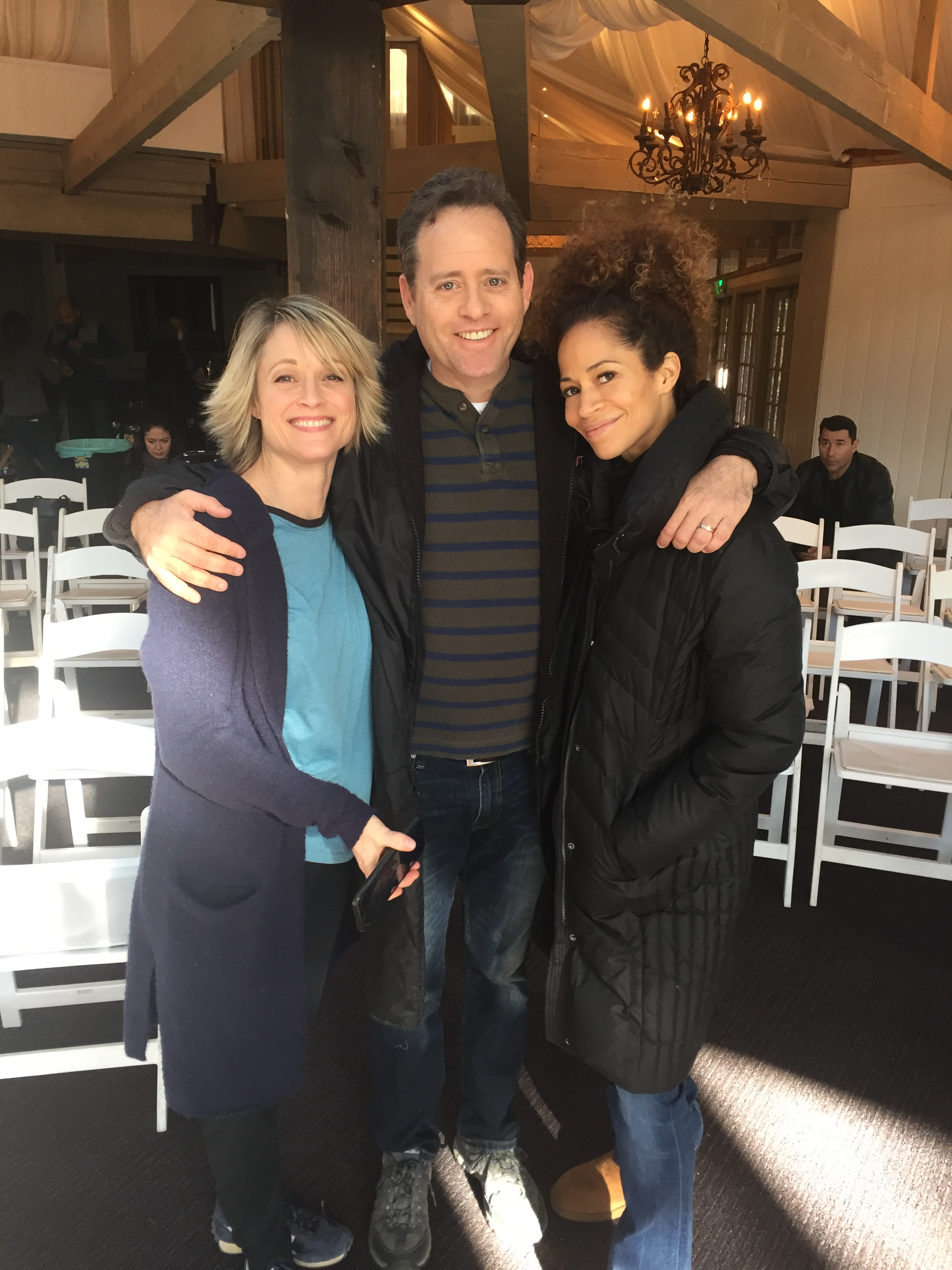 On the set of THE FOSTERS with Teri Polo and Sherri Saum