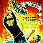 Gino Cervi, Julien Duvivier, Fernandel, and Giovanni Guareschi in Don Camillo (1952)