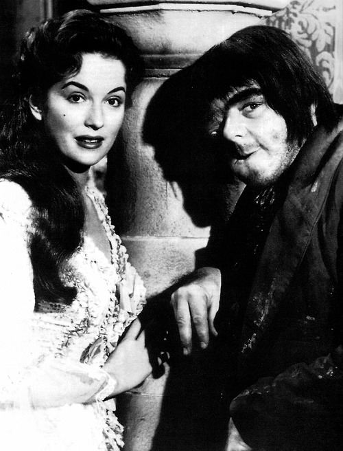 Victor Maddern and Barbara Shelley in Blood of the Vampire (1958)