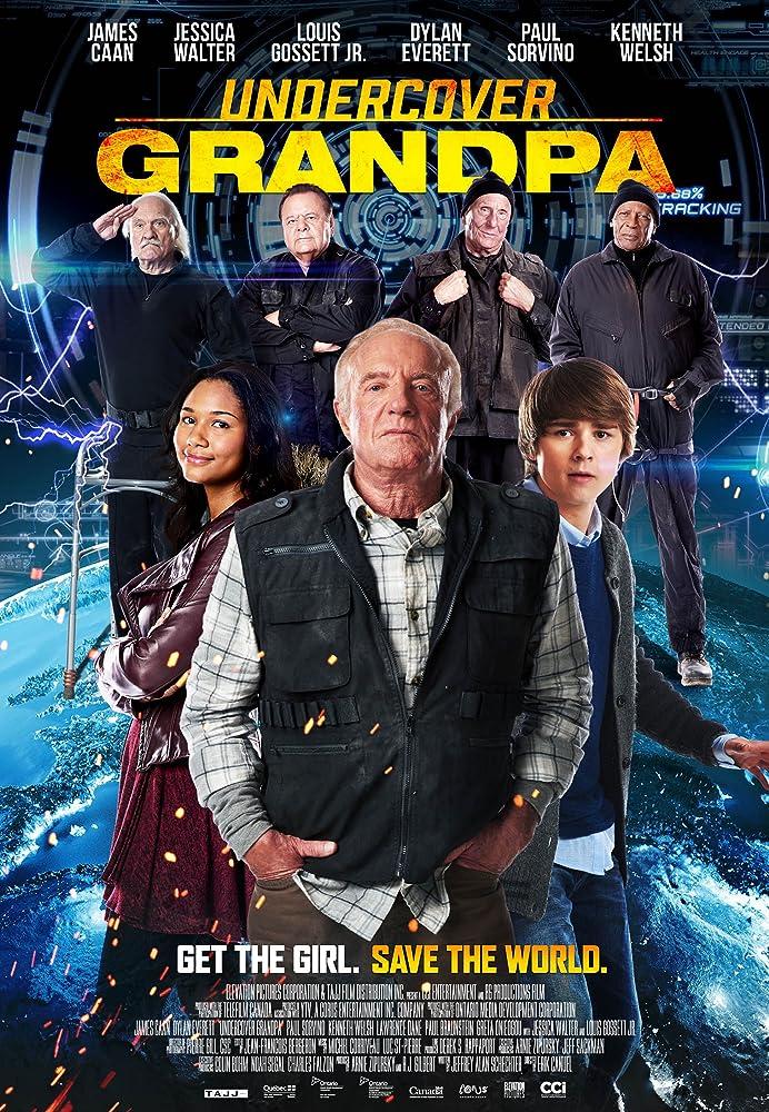 Paul Sorvino, James Caan, Louis Gossett Jr., Lawrence Dane, Kenneth Welsh, Greta Onieogou, and Dylan Everett in Undercover Grandpa (2017)