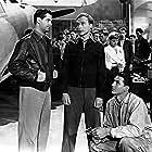Robert Cummings, Norman Lloyd, and Virgil Summers in Saboteur (1942)