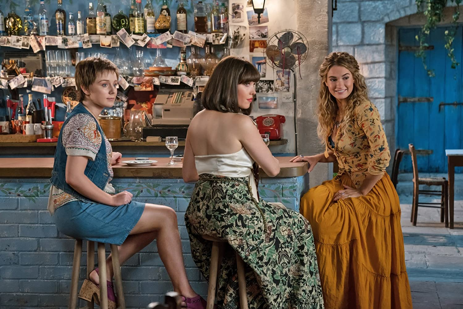 Alexa Davies, Lily James, and Jessica Keenan Wynn in Mamma Mia! Here We Go Again (2018)