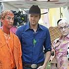 Joel McHale, Jim Rash, and Danny Pudi in Community (2009)