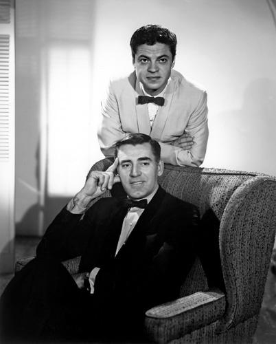 Ross Martin and John Vivyan in Mr. Lucky (1959)