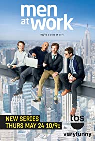 Danny Masterson, Adam Busch, James Lesure, and Michael Cassidy in Men at Work (2012)