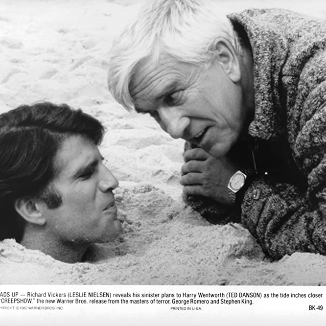 Leslie Nielsen and Ted Danson in Creepshow (1982)