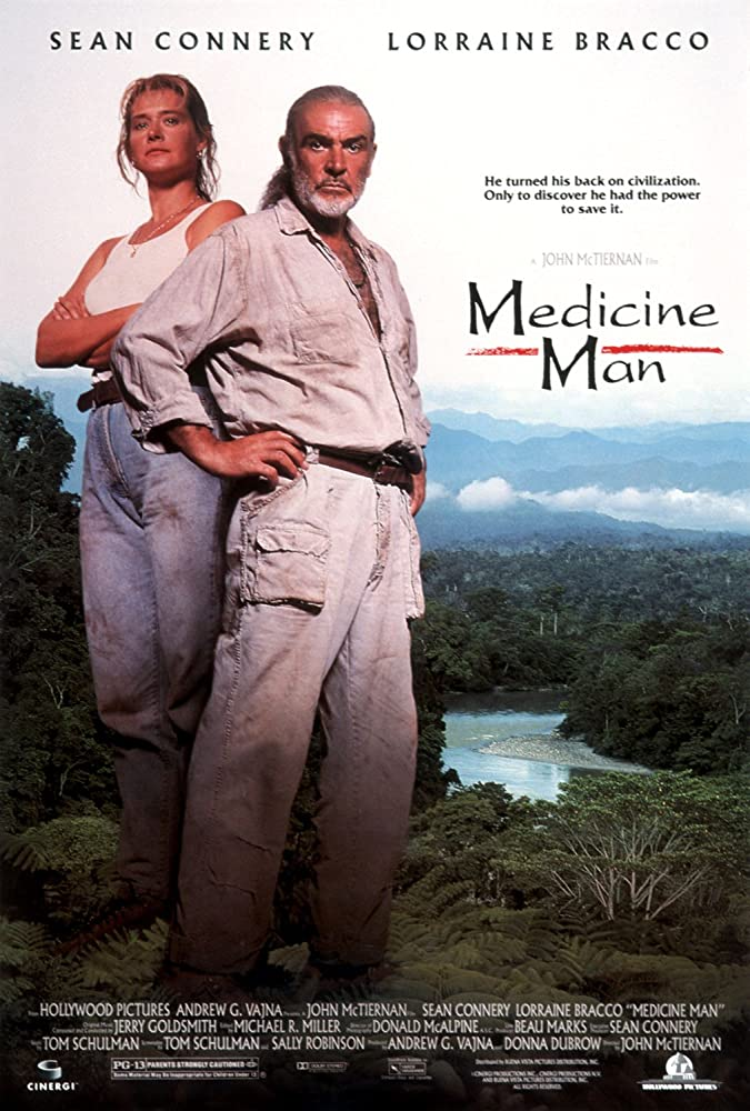 Sean Connery and Lorraine Bracco in Medicine Man (1992)