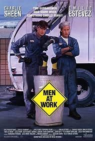 Charlie Sheen and Emilio Estevez in Men at Work (1990)