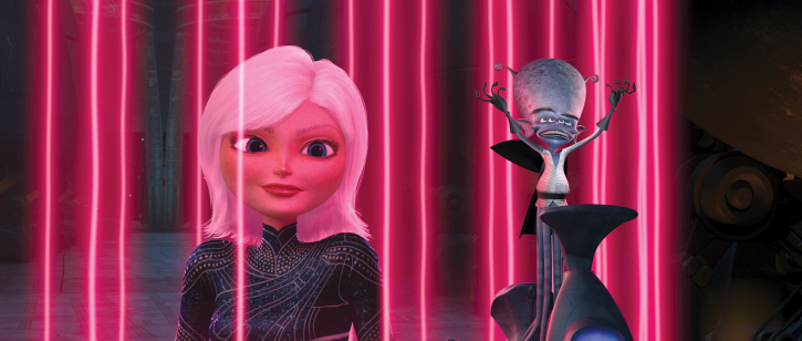 Reese Witherspoon and Rainn Wilson in Monsters vs. Aliens (2009)
