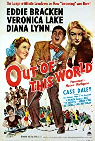 Veronica Lake, Eddie Bracken, Cass Daley, and Diana Lynn in Out of This World (1945)