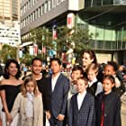 Angelina Jolie, Maddox Jolie-Pitt, Shiloh Jolie-Pitt, Zahara Jolie-Pitt, Vivienne Jolie-Pitt, Pax Jolie-Pitt, Loung Ung, Knox Jolie-Pitt, Sareum Srey Moch, and Mun Kimhak at an event for First They Killed My Father (2017)